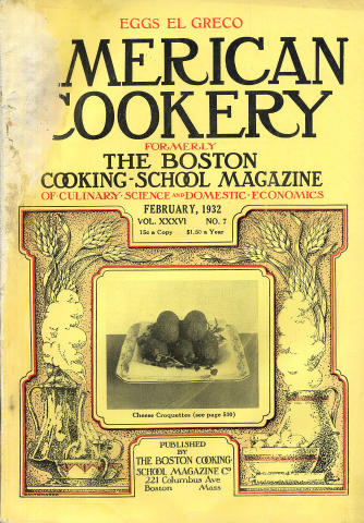 American Cookery Magazine February 1932