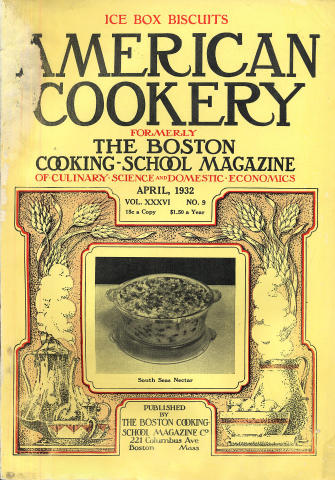 American Cookery Magazine April 1932