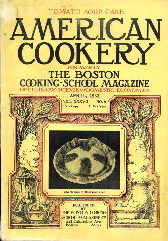 American Cookery Magazine April 1933