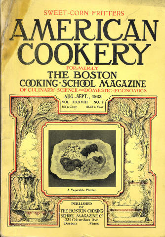 American Cookery Magazine August 1933