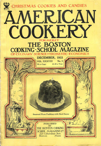 American Cookery Magazine December 1933