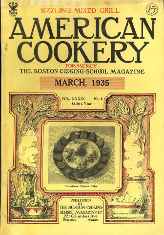 American Cookery Magazine March 1935