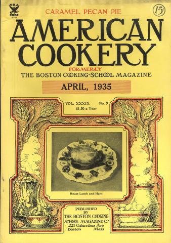 American Cookery Magazine April 1935