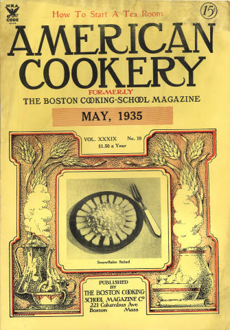 American Cookery Magazine May 1935
