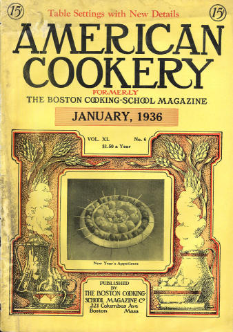 American Cookery Magazine January 1936