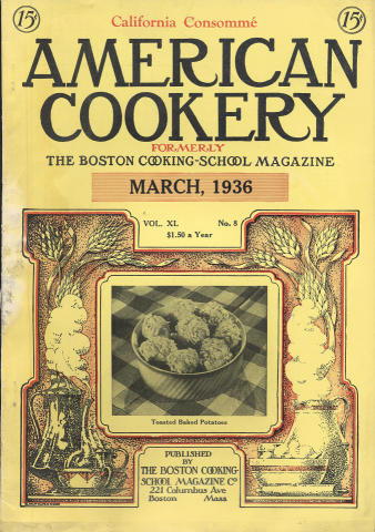American Cookery Magazine March 1936