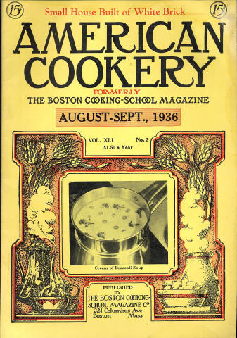 American Cookery Magazine August 1936
