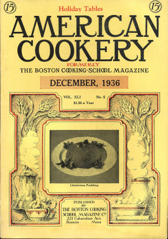 American Cookery Magazine December 1936