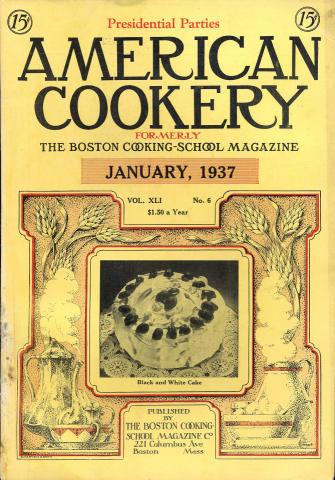 American Cookery Magazine January 1937