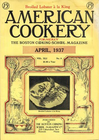American Cookery Magazine April 1937