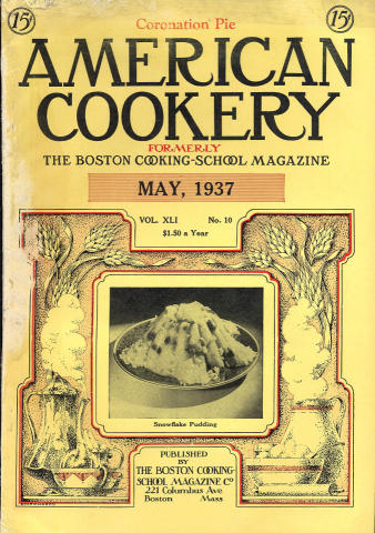 American Cookery Magazine May 1937