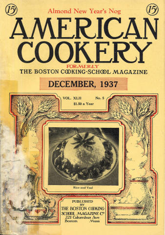 American Cookery Magazine December 1937