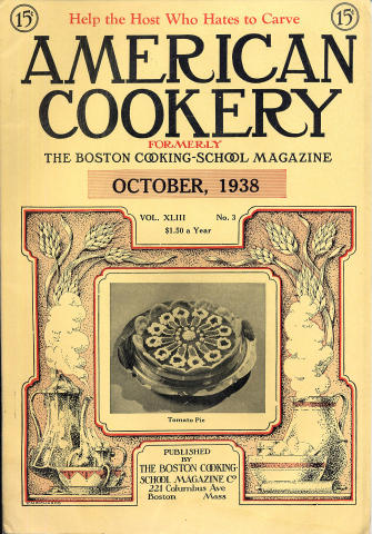American Cookery Magazine October 1938