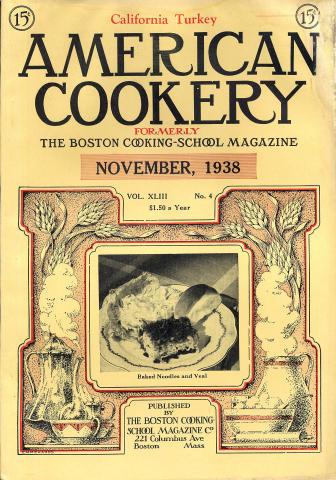 American Cookery Magazine November 1938