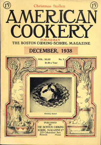 American Cookery Magazine December 1938