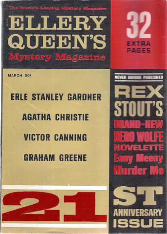 Ellery Queen's Mystery Magazine March 1962