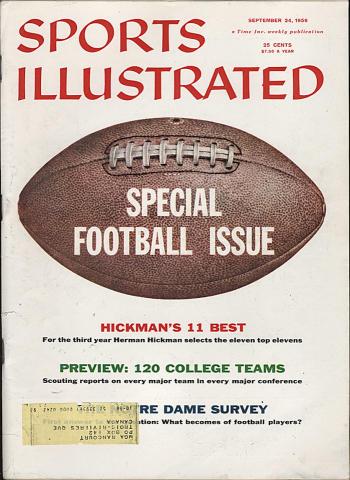 Sports Illustrated September 24, 1956