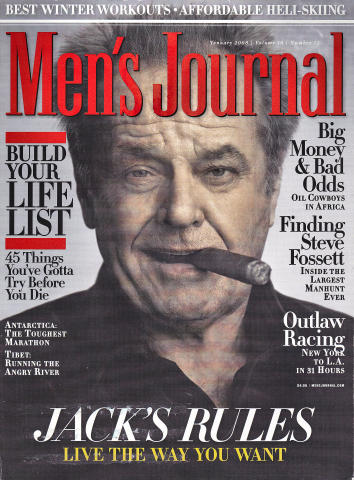Men's Journal Magazine January 2008