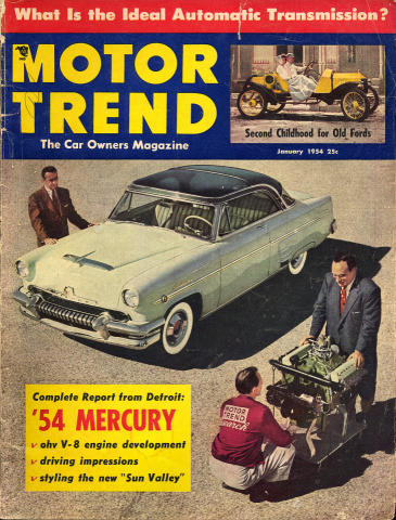 Motor Trend Magazine January 1954