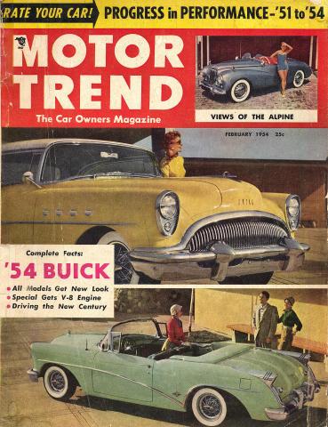 Motor Trend Magazine February 1954