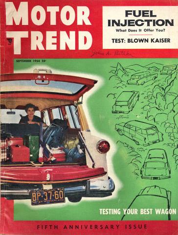 Motor Trend Magazine September 1954
