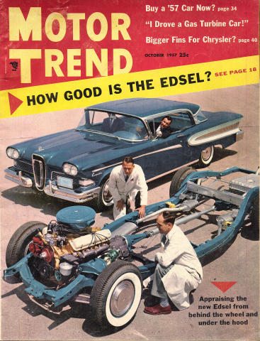 Motor Trend Magazine October 1957