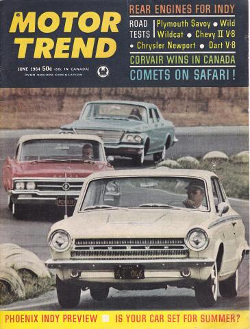 Motor Trend Magazine June 1964