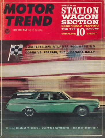 Motor Trend Magazine July 1964