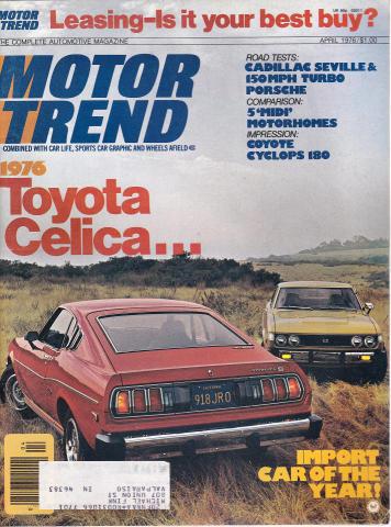 Motor Trend Magazine April 1976