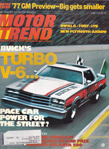 Motor Trend Magazine June 1976