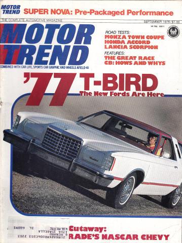Motor Trend Magazine September 1976