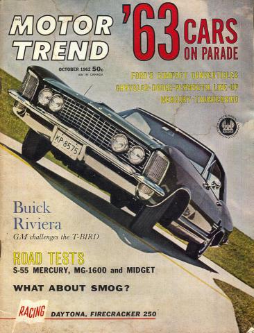 Motor Trend Magazine October 1962