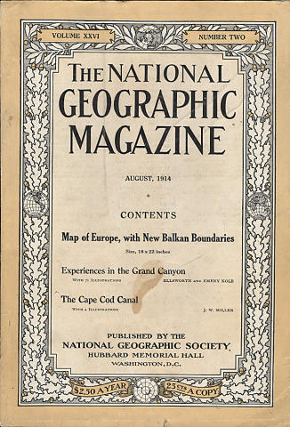 National Geographic August 1914