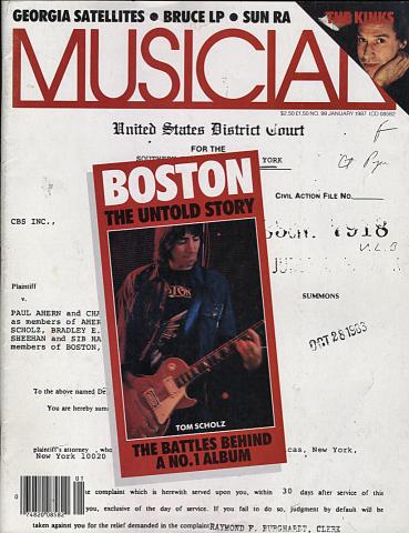 Musician Magazine January 1987