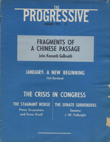 The Progressive Magazine January 1973