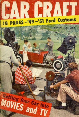 Car Craft Magazine August 1957