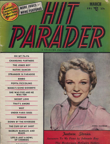 Hit Parader Magazine March 1954