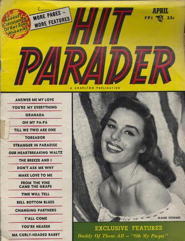 Hit Parader Magazine April 1954