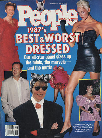 People 1987 Best and Worst Dressed November 1987