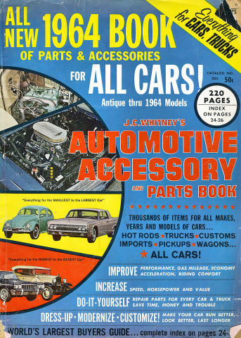 J.C. Whitney's Automotive Accessory And Parts Book No. 203