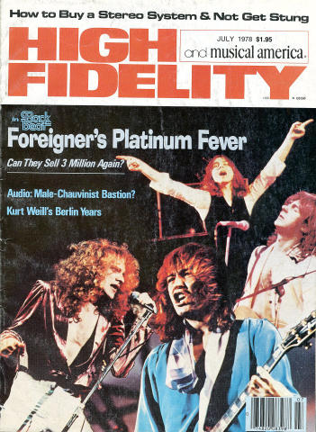 High Fidelity And Musical America Magazine July 1978