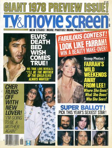 TV & Movie Screen Magazine January 1978