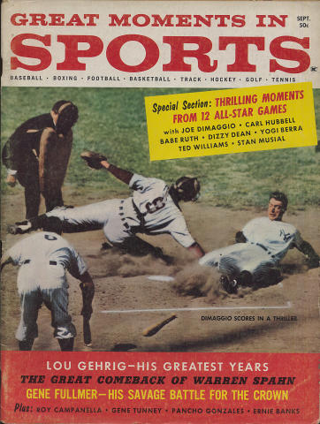 Great Moments in Sports Magazine September 1960