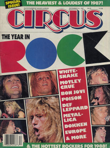 Circus Magazine December 31, 1987