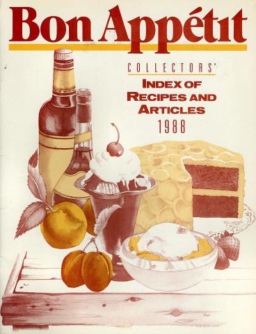 Bon Appetit: Collectors' Index Of Recipes And Articles