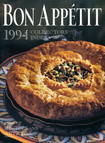 Bon Appetit: Collectors' Index Of Recipes And Articles