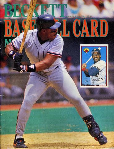 Beckett Baseball Card Monthly August 1989