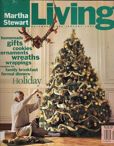 Martha Stewart Living Magazine December 1992