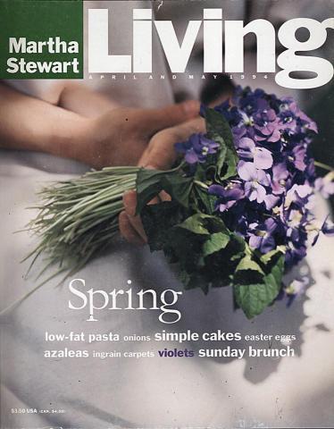 Martha Stewart Living Magazine April 1994