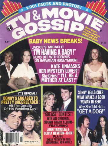TV & Movie Gossip Magazine July 1978